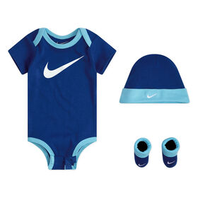 Nike 3pc gift Set - Blue, Size 0-3 months