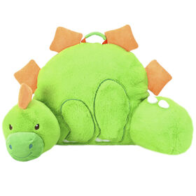 Soft Landing Nesting Nooks Premium Character Backrest with Carrying Handle & Back Pocket - Green Dino