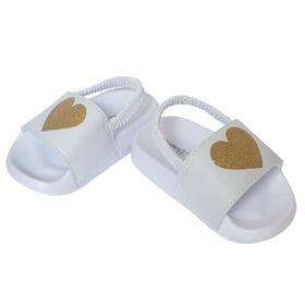 So Dorable Girls Sandal Gold Heart size 18-24 months