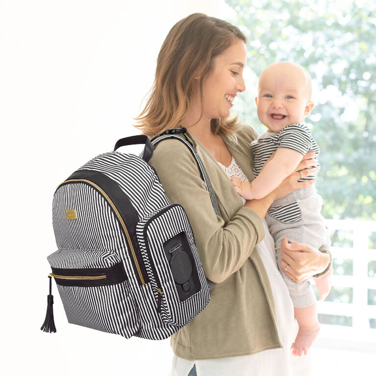 Carter's Handle It All Diaper Backpack - Black Stripe