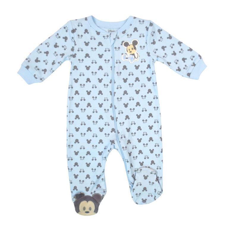 Disney Mickey Mouse 1-Piece Sleeper - Blue, 6 Months
