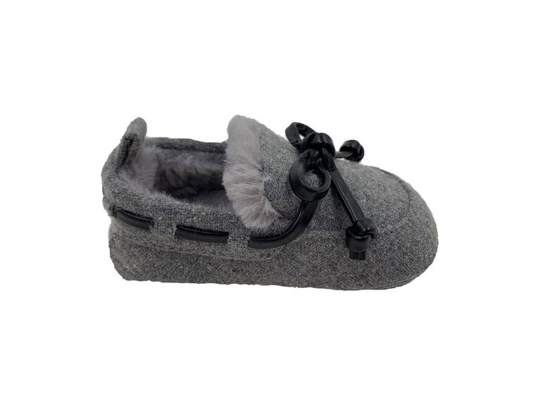Chaussons gris de First Steps, Taille 1, 0-3 mois