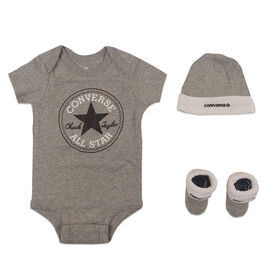 Converse 3-Pack Creeper - Grey, 0-6 Months