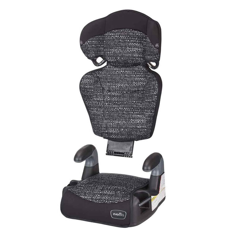 Evenflo Big Kid Amp High Back Belt-Positioning Booster Car Seat - Static Black - R Exclusive