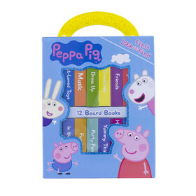 My First Library Board Book Block 12-Book Set Peppa Pig - English Edition