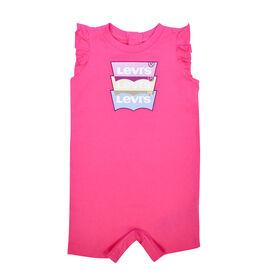 Levis Romper - Pink, 0-3 Months to Newborn