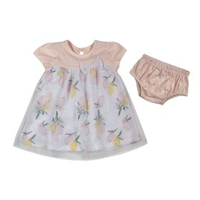 Rococo 2-Piece Dress with Panty Set - Pink, 0-3 Months
