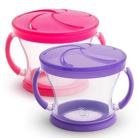 Munchkin Snack Catchers 2-Pack - Pink/Purple