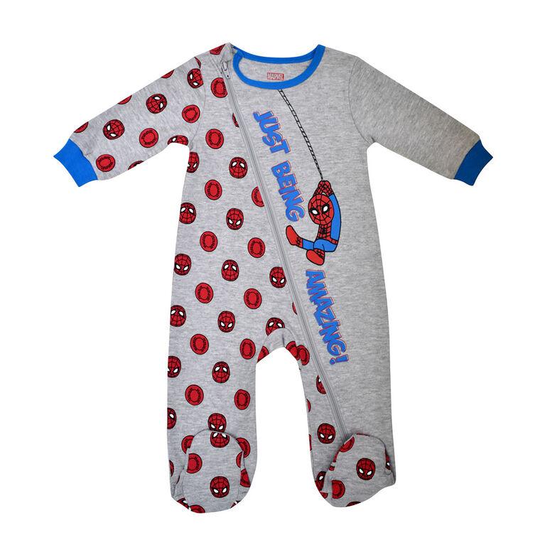 Marvel Spiderman 1pc sleeper - Grey, 12 months