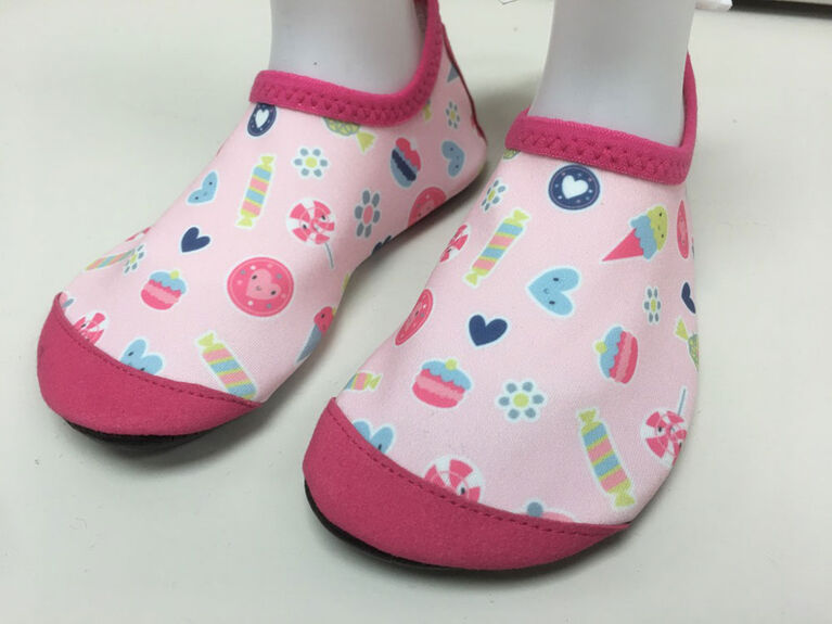 Tickle-toes Girl Pink Print Aqua Shoes Size 4