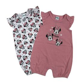 Disney Minnie Mouse 2PK Romper - Pink, 18 Months