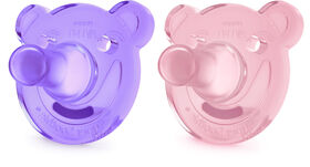 Philips AVENT SoothieShapes Bear 3 Months+, 2-Pack - Pink/Purple