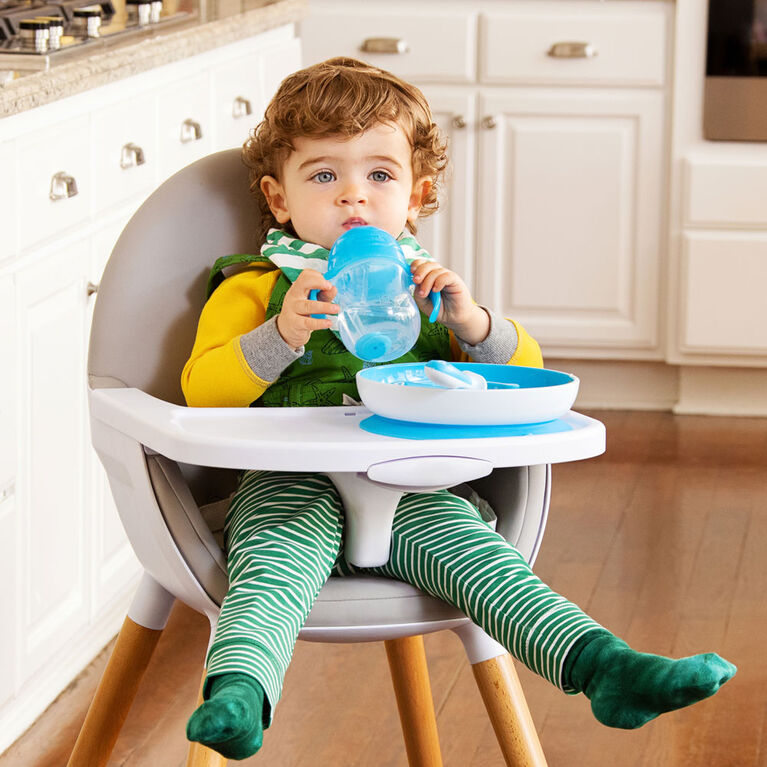 Munchkin- Be Happy Toddler Dining Set - Blue - English Edition