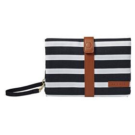 JJ Cole Changing Clutch - Black & White Stripe