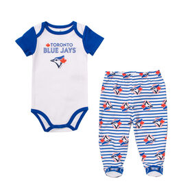 Snugabye - MLB - Bodysuit With Pant Set - 6-12 Months