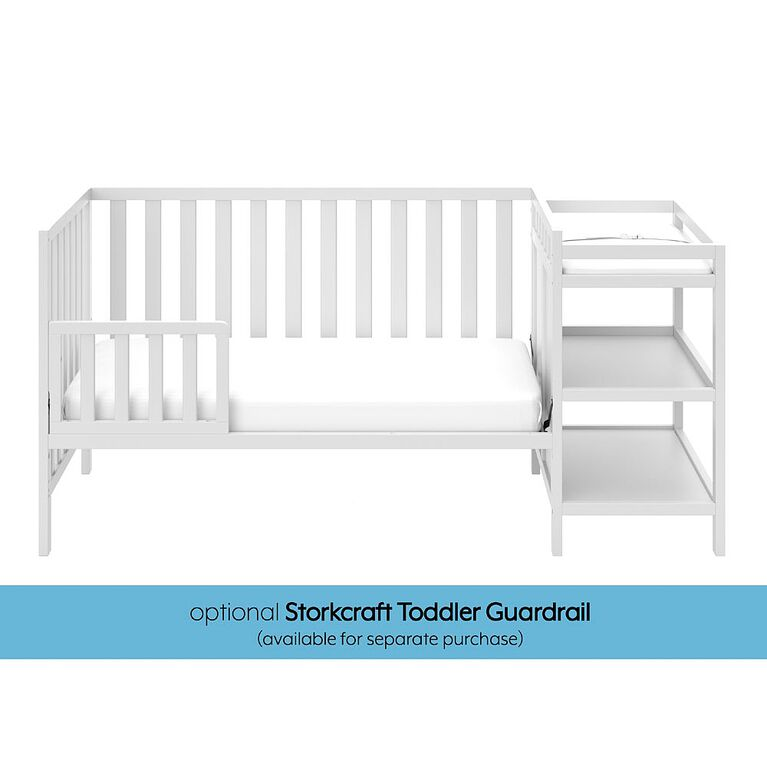 Storkcraft Pacific 4-in-1 Convertible Crib and Changer - White.