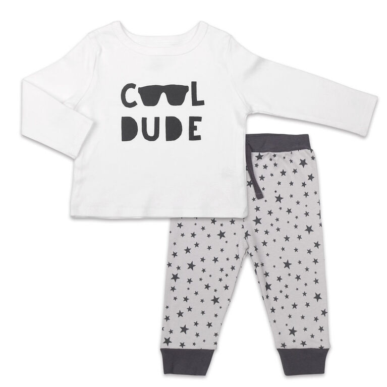 Koala Baby Let's Play Long Sleeve Shirt and Pants Set, Cool Dude - 0-3 Months