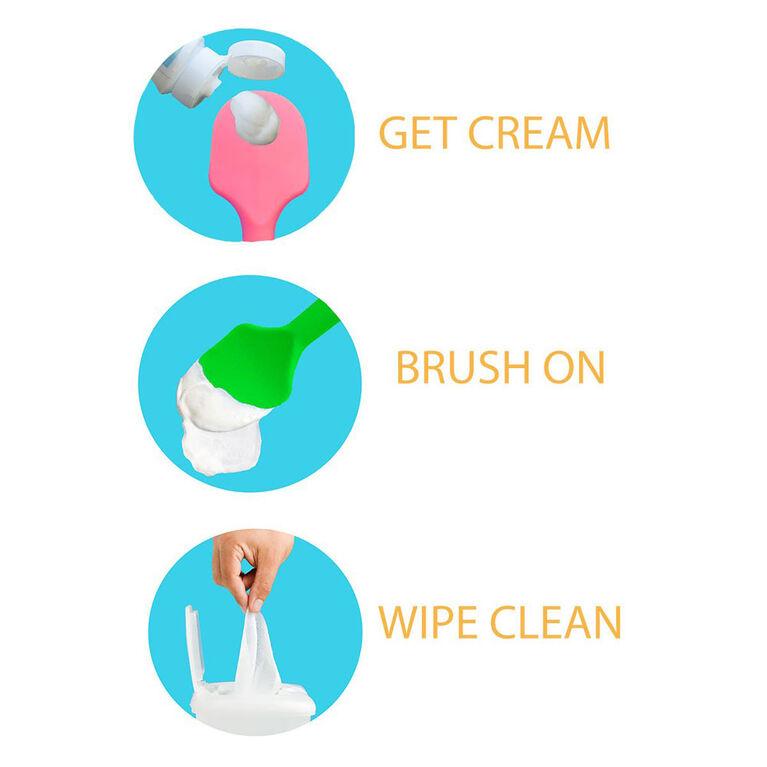 Brosse pour crème pour le change - Rose Baby Bumco