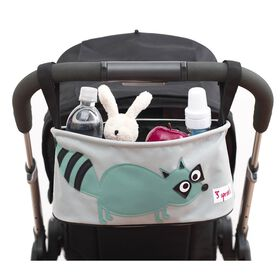 3 Sprouts Stroller Organizer Raccoon - Teal