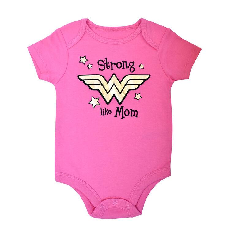 Warner's Wonderwoman Bodysuit - Pink, 12 Months