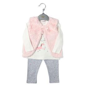 Bonjour Bebe - Girls 3 Piece Vest Set: Unicorn - 3-6 Months