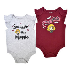 Warner's Harry Potter 2 PK Bodysuits - Grey, 24 Months