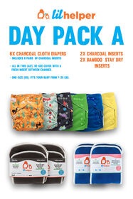 Lil Helper 6-Pack Cloth Diapers