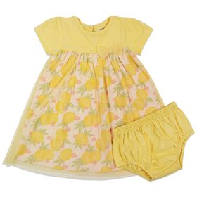 Rococo 2-Piece Dress with Panty Set - Yellow, 3-6 Months