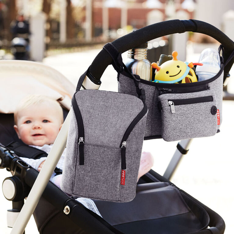 Skip Hop Grab & Go Stroller Organizer - Heather Grey
