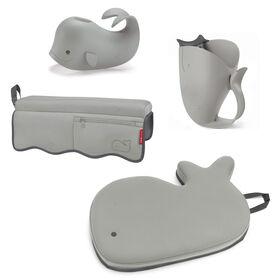 Trousse d'essentiels pour le bain Moby de Skip Hop - Gris.