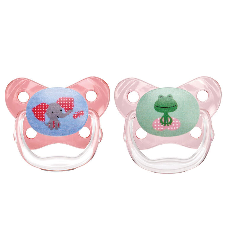 Dr. Brown's PreVent Pacifier, 6-12 Months - Pink