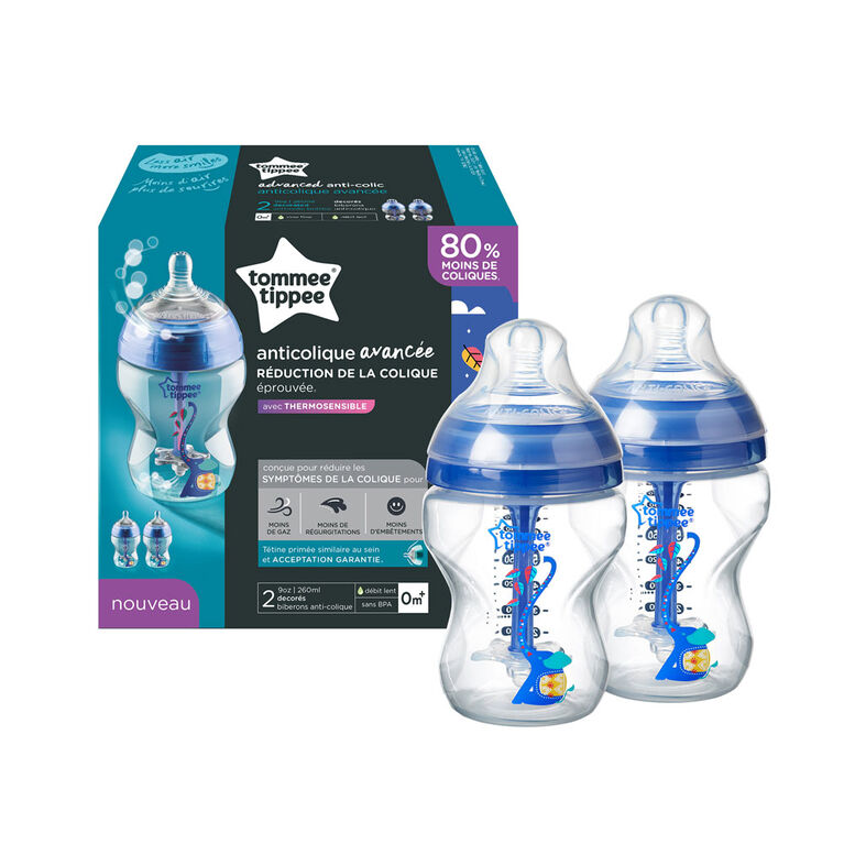 Tommee Tippee Advanced Anti-Colic 2-Pack Bottle, 9 oz.