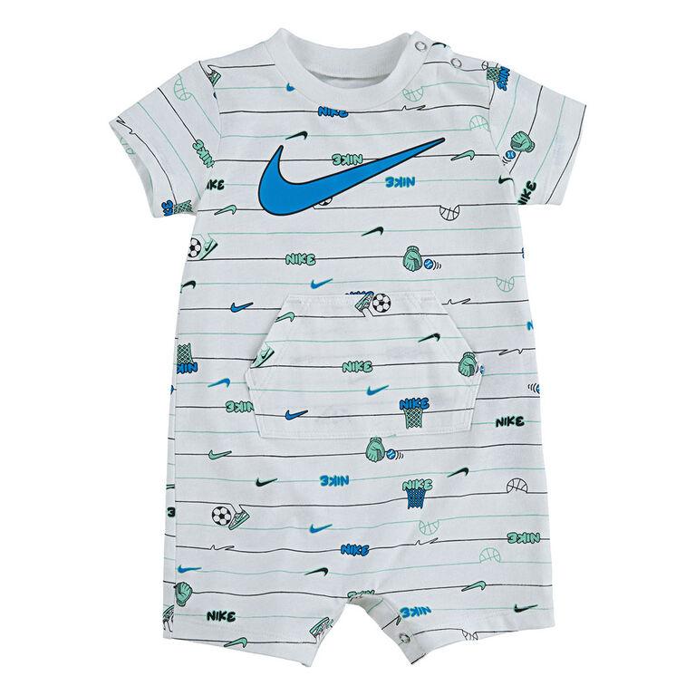 Nike Romper - White, 6 Months