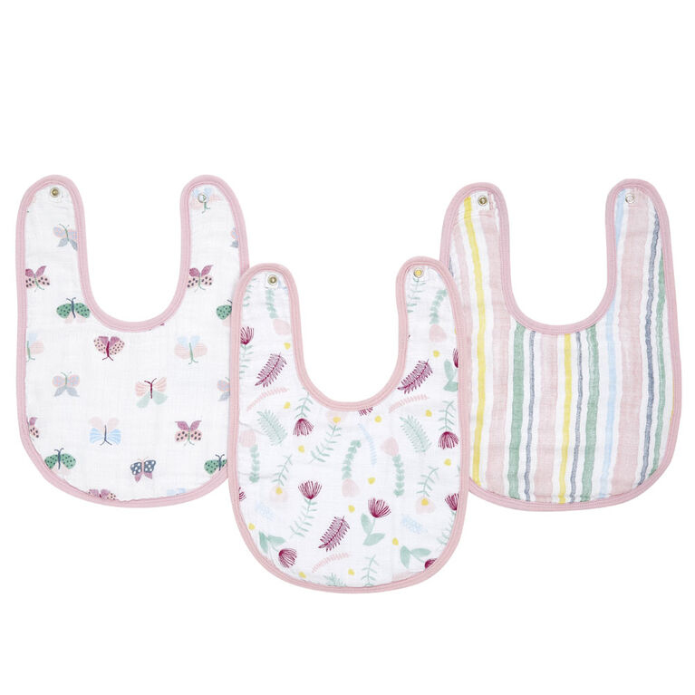 Aden Essentials - Floral  Fauna Snap Bibs 3-Pack