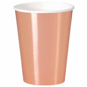 Rose Gold 12oz Paper Cups 8 pieces