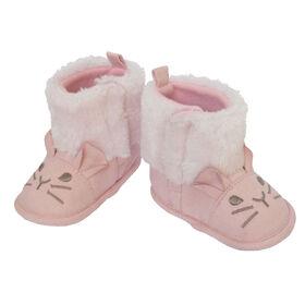 So Dorable Pre Walk G Suede Boot Pink - Bunny      0-6M