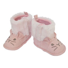 So Dorable Pre Walk G Suede Boot Pink - Bunny      6-9M