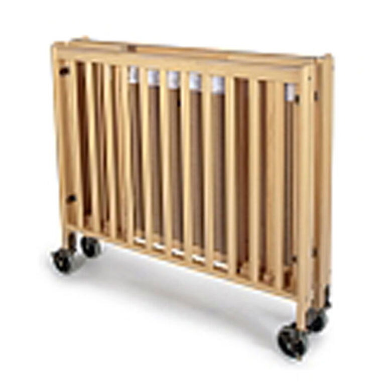 Foundations wood compact folding crib - natural finish