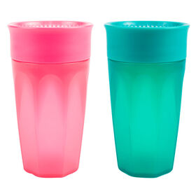 Dr. Brown's Milestones Cheers360 10 oz cup 2 pack pink and turquoise