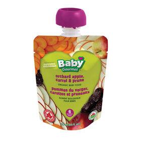 Baby Gourmet Pommes du verger, carottes et pruneaux.
