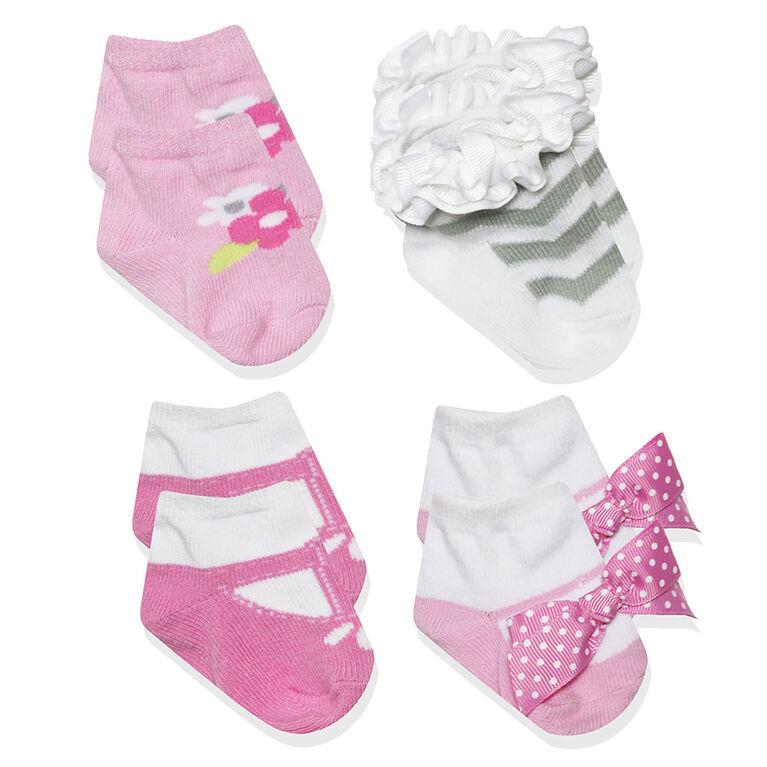 Baby Essentials 4-Pack Socks - English Edition