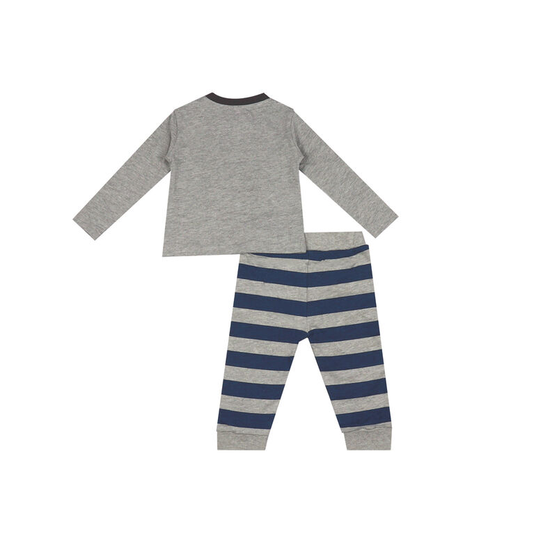 earth by art & eden - Stephen 2 Piece Pant Set - Gray Heather, 6 Months