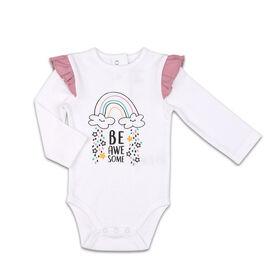 Combinaison The Peanutshell Be Awesome interchangeable à épaules à volants, layette pour bébé fille - 3-6 Mois