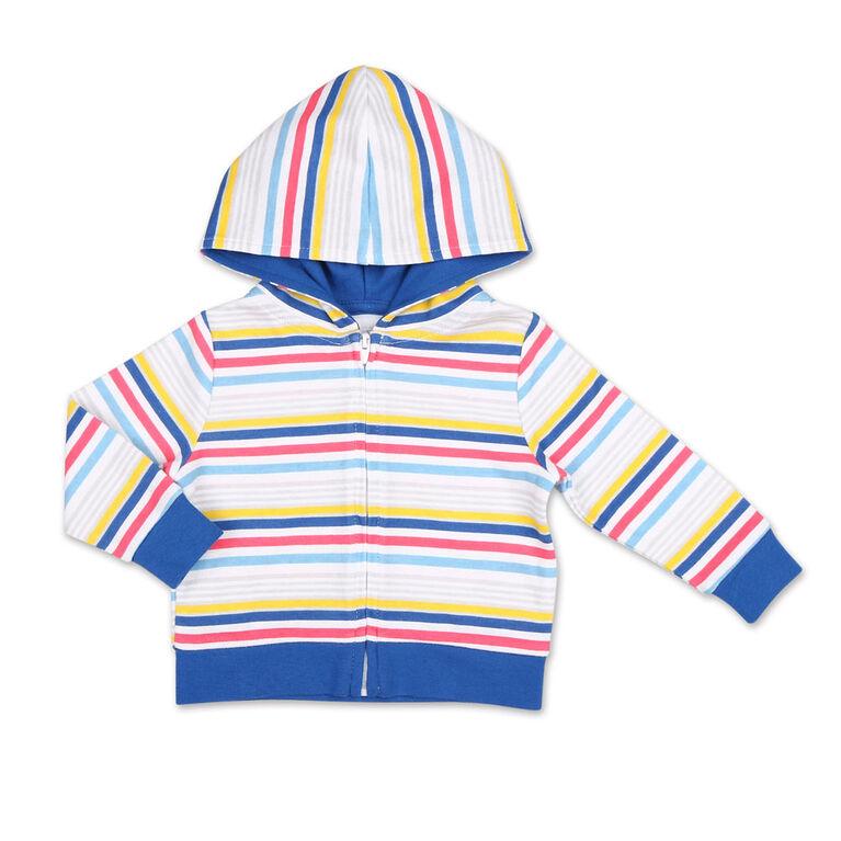 Koala Baby Summer Fun Striped Hoodie/Jogger 2 Piece Set, Newborn