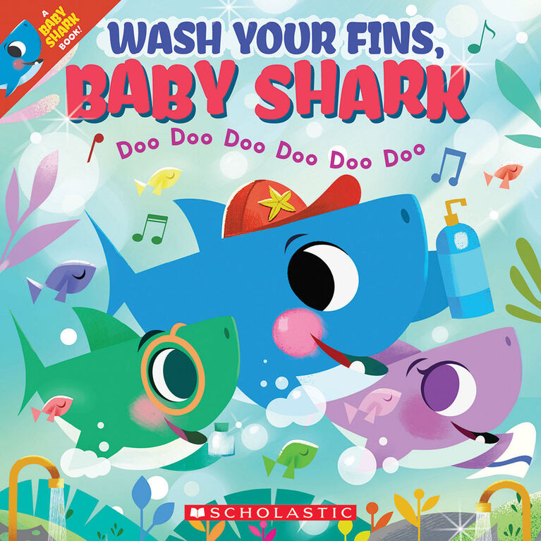Scholastic - Wash Your Fins Baby Shark - English Edition