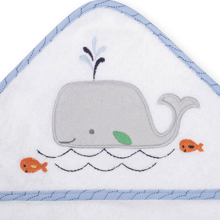 Koala Baby 2-Pack Hooded Towel, Blue Whale