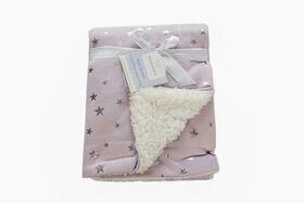Koala Baby Sherpa Blanket Lavender with Metallic Stars