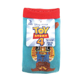 Disney - Boys 3 Pack Crew Sock - Toy Story, Assorted, 36-60 Months