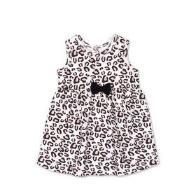 Koala Baby Short Sleeve Cheetah Print Dress - 0-3 Months
