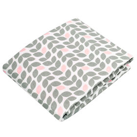 Kushies drap contour en flanelle pour table a langer - pétale gris.